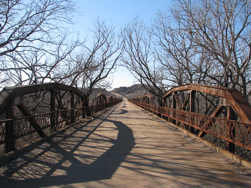 North Fork Red River bridge, old US 62, Headrick, OK