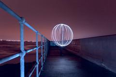 Seaton Sluice orb (- Hob -) Tags: customwhitebalance lightsphere lapp seatonsluice straightfromraw  lightjunkies  lightartperformancephotography xenonbulb wwwfacebookcompageslightpaintingorguk517424921642831