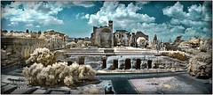 Forum (a.Kry) Tags: italy panorama rome ir pano forum infrared coliseum colloseum colosseo  falsecolor  fauxcolor  infraredphoto