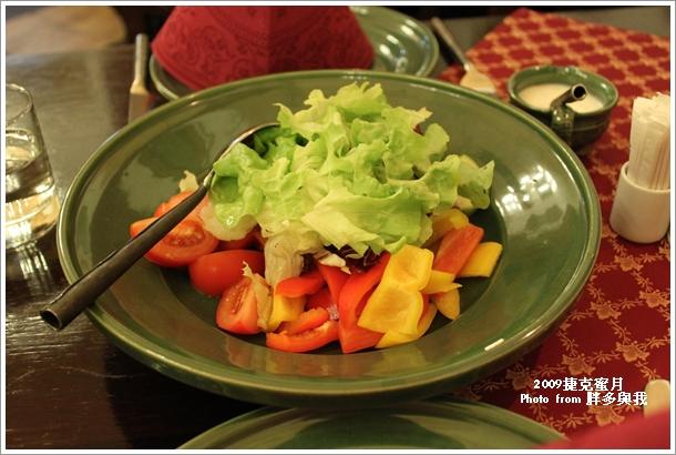 晚餐的生菜沙拉
