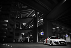 Audi R8 (Marwan AL-Marzugy) Tags: light red west car sport vw coast ride side performance led saudi arabia whit jeddah audi tuning tone marwan makkah r8 lambo samaco