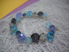purple- blue bracelet (y2k_maria) Tags: sparkles wire jewelry sparkle swarovski goldfill crysals