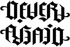 """Never"" & "" Again"" Ambigram"