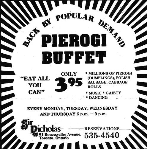Vintage Ad #1,014: Pierogi Buffet!