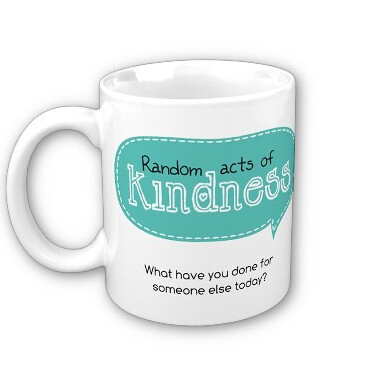 All white mug Kindness