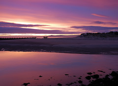Lossiemouth - Pink Dawn (jimrobertson) Tags: ocean blue sunset sea snow seascape black art beach nature water sunshine rock speed sunrise print landscape photography dawn coast scotland surf waves slow gull fine large wave jim wallart canvas card gift mounted shutter splash scape moray scapes lossiemouth morayshire lossie jimrobertson blackgull