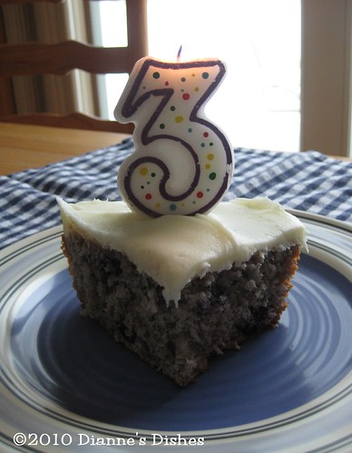 Happy Third Blogaversary to Me: Let's Celebrate With Blueberry Cake
