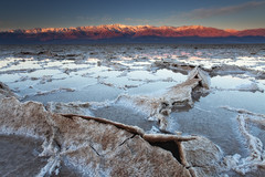 Badwater under water - Badwater Salt Flats-Death Valley National Park, California (D Breezy - davidthompsonphotography.com) Tags: california winter snow mountains nature water lines sunrise canon landscape desert mud earth salt textures deathvalley cracks saltflats mojavedesert badwater deathvalleynationalpark telescopepeak belowsealevel 1740f4l dvnp crackedearth 1740mml timberlandboots leefilters 5dmarkii canon5dmarkii