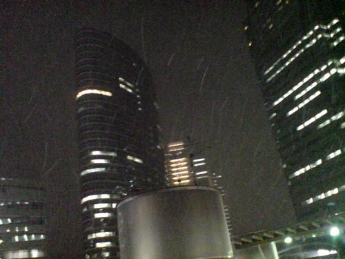 Tokyo is snowing...