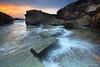 Forresters Beach - Central Coast, NSW, Australia (-yury-) Tags: ocean sea sun seascape beach water clouds sunrise landscape rocks waves australia centralcoast forresters supershot abigfave