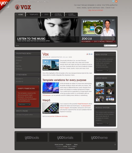 Vox v1.5.1 Update – YOOtheme Template