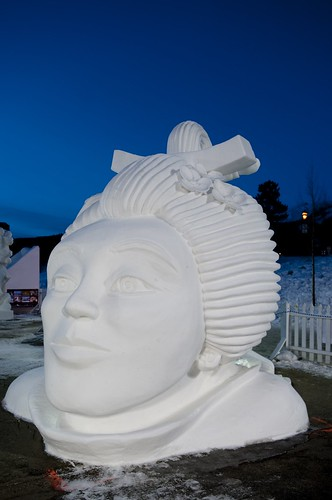 Snow Sculpture at Breckenridge: 2nd Team Canada, Ontario - Memories From My Youthbreckenridge colorado snowsculpture icesculpture event competition luthy canada