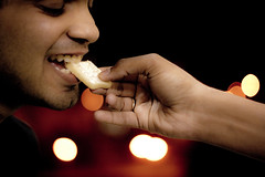"""""""No sweet tastes better than one consumed without any occasion!"""" (Kewal Gala) Tags: friends party love smile mouth dessert hand sweet bokeh teeth joy expressions cadbury celebration giving sweets 365 emotions occasion loved ones katri cause kaju mithai meetha kajukatri"""