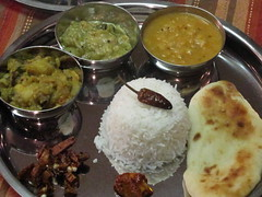 leftovers thali (migration musings) Tags: indian leftovers thali