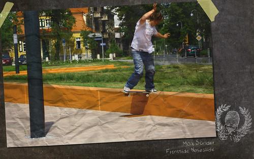 Maik Sander Frontside Noseslide Wallpaper