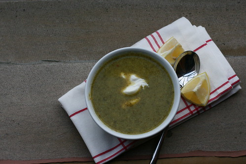 Broccoli Soup with Lemon Cream
