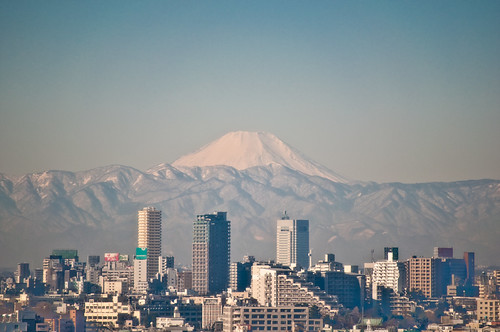 Mount Fuji from our office