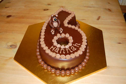 Number 6 Birthday Bear Beautiful Birthday Cakes