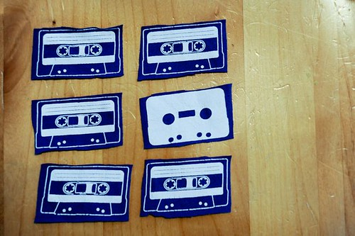 mix tapes cut outs.