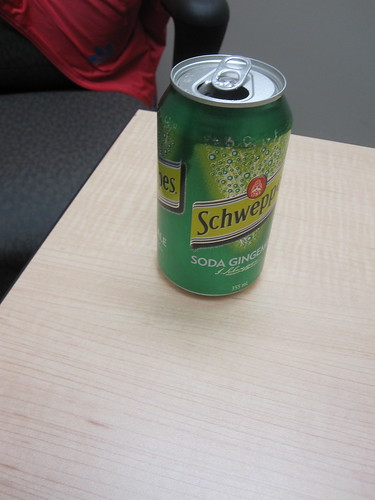Ginger ale at University of Ottawa recruiting session