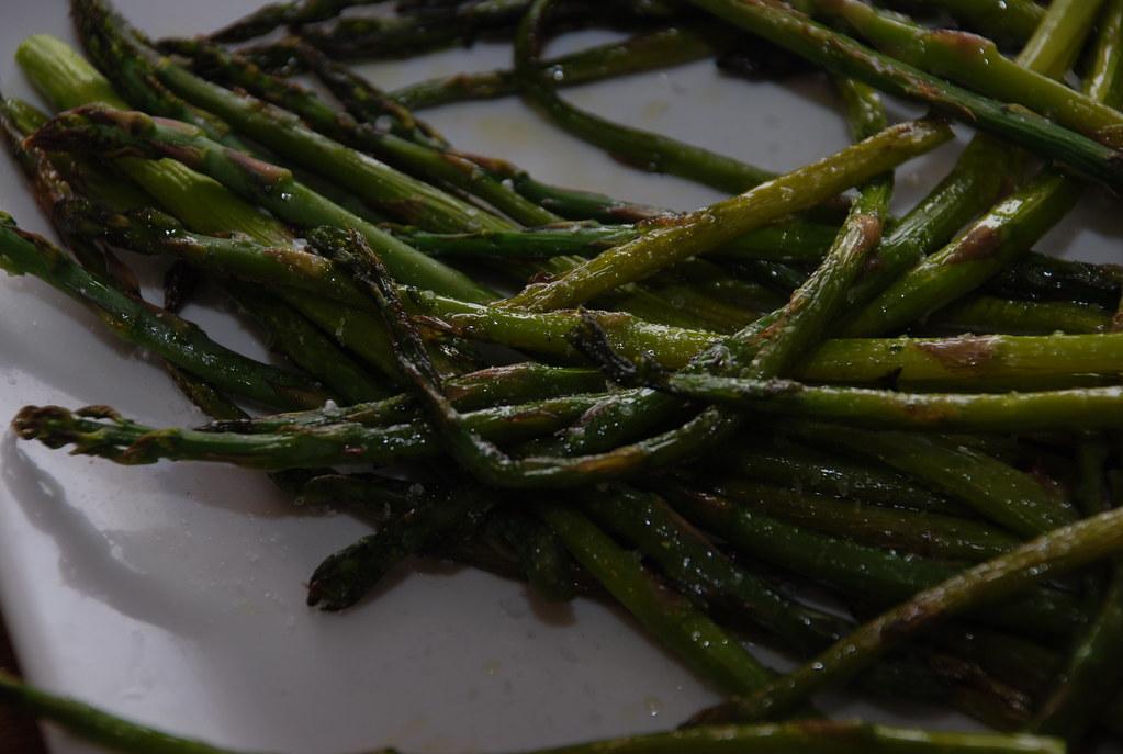 asparagus from Santa Monica roasted, salted