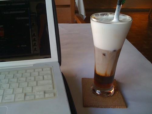 [高雄]mio caffè 我的咖啡館一樓:玫瑰拿鐵