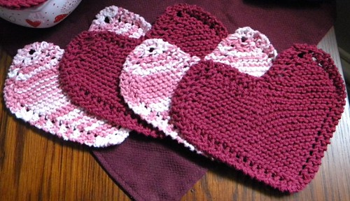 Ravelry Grandmas Favorite Heart Shaped Dishcloth Revised Pattern