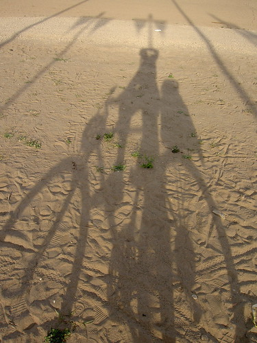 late afternoon bicycle shadow, Cherry Beach