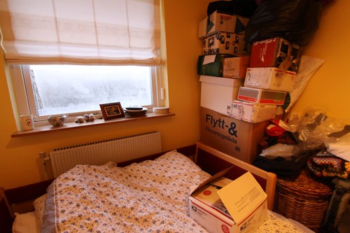 Some 15 packages sent back to Denmark by me from around the world were awaiting me in my childhood room...