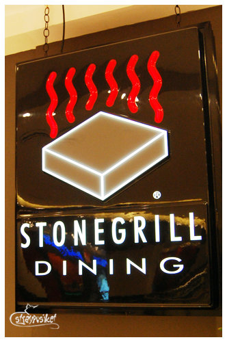 stone grill signage