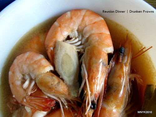 Reunion Dinner: Drunken Prawns
