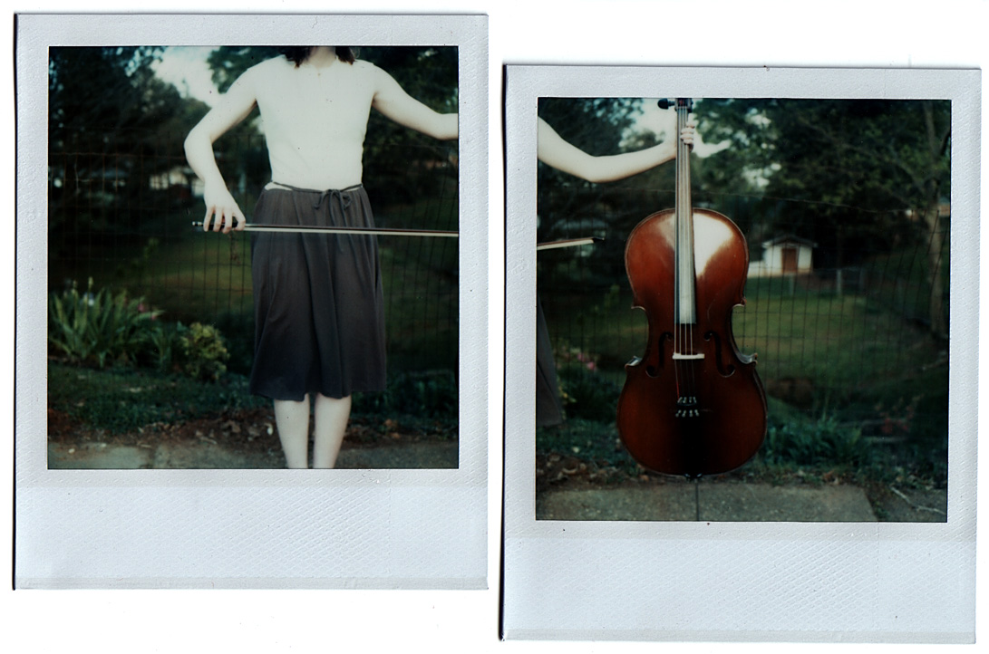 cello diptych polaroid