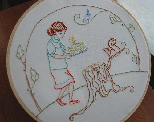 forest birthday party for Comfortstitching