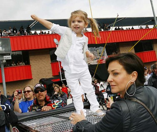 jeff gordon wife ingrid. Jeff Gordon#39;s daughter, Ella,