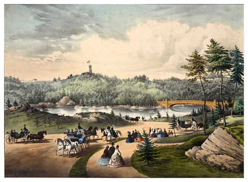 015-New York- El lago de Central Park 1862-The Eno collection of New York City-NYPL