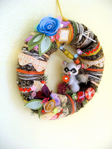 Abby-Sue's Little Bandit Yarn Wreath
