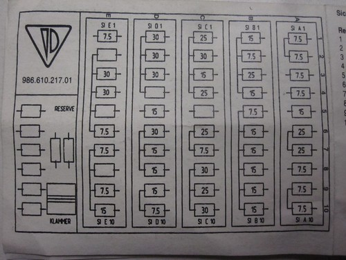 1997 vs 1999 fuse assignments (diagrams) - porsche babblers porsche boxster fuse diagram porsche boxster fuse c3