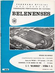 BELENENSES v Vitoria Setubal  [1967-68] (bullfield) Tags: cfbelenenses belenenses vitoriafc vitoriasetubal portugal portuguese footballprogramme theonesfrombelém 1968