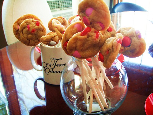 chocolate chip cookie lollipop - cookie bouquet (valentine's day) - 25