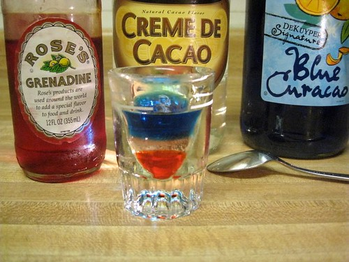 Red, White and Blue Shots