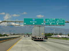 Sign Gantry @ 15+60 (mike_s_etc) Tags: green sign 15 freeway interstate 60 interchange i15 gantry interstate15 sr60 stateroute pomonafreeway signgantry ontariofreeway