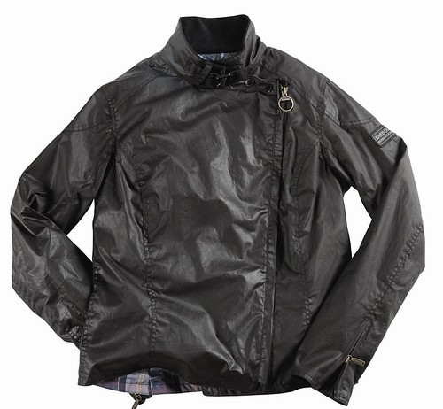 Barbour assymetric antique biker jacket