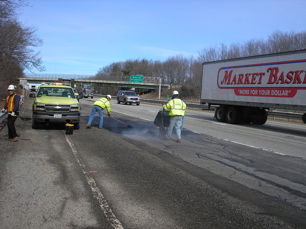 MassDOT Pothole Repairs on I-93, Andover/Methuen, March 5, 2010