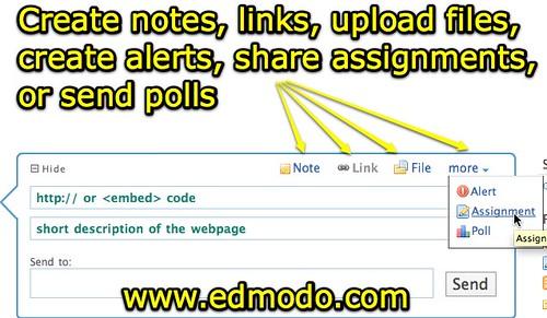 Edmodo Sharing Options