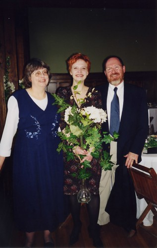 Mom, Dad and I at Melissa's Wedding March 3, 2001