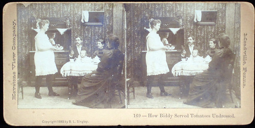 How Biddy Served Tomatoes Undressed. Keystone View Company. 1893