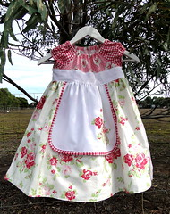 Little Dress for Mia (Swede-Heart) Tags: claire handmade sewing darla prettydress kidsclothing kidsclothes girlsclothes girlsdress portabellopixie sandihenderson tanyawhelan roundneckdress darlafabric