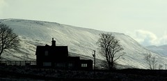 Ice Station Ribble (sfryers) Tags: trees winter mountain snow cold building ice station silhouette yorkshire sigma rail apo slope dales ingleborough 70300 ribblehead ribblesdale 1456