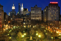 Union Square at Night, NYC by andrew c mace, on Flickr