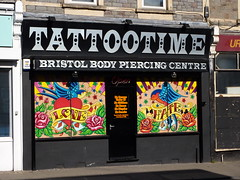 Tattootime - Bristol (lydia_shiningbrightly) Tags: uk streetart shop tattoo bristol bedminster tattootime